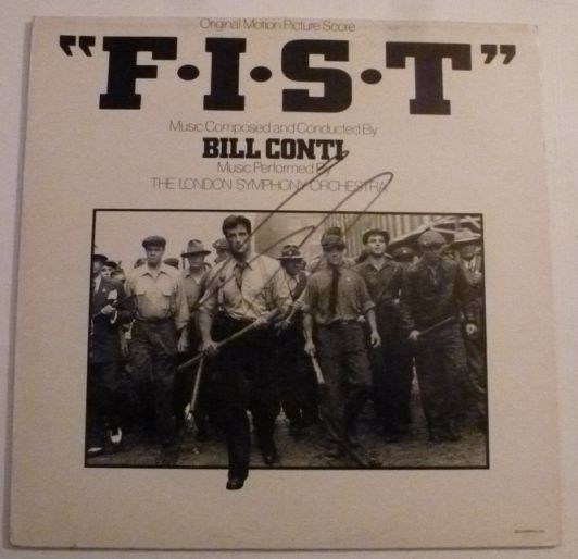 Sylvester Stallone Autograph Signed F.I.S.T. VINYL (4719)