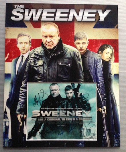 The Sweeney Autographs Signed 20x16 Display