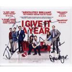 I Give it a Year Cast Shot Autographed by 6 Signed 8x10 Photo (8