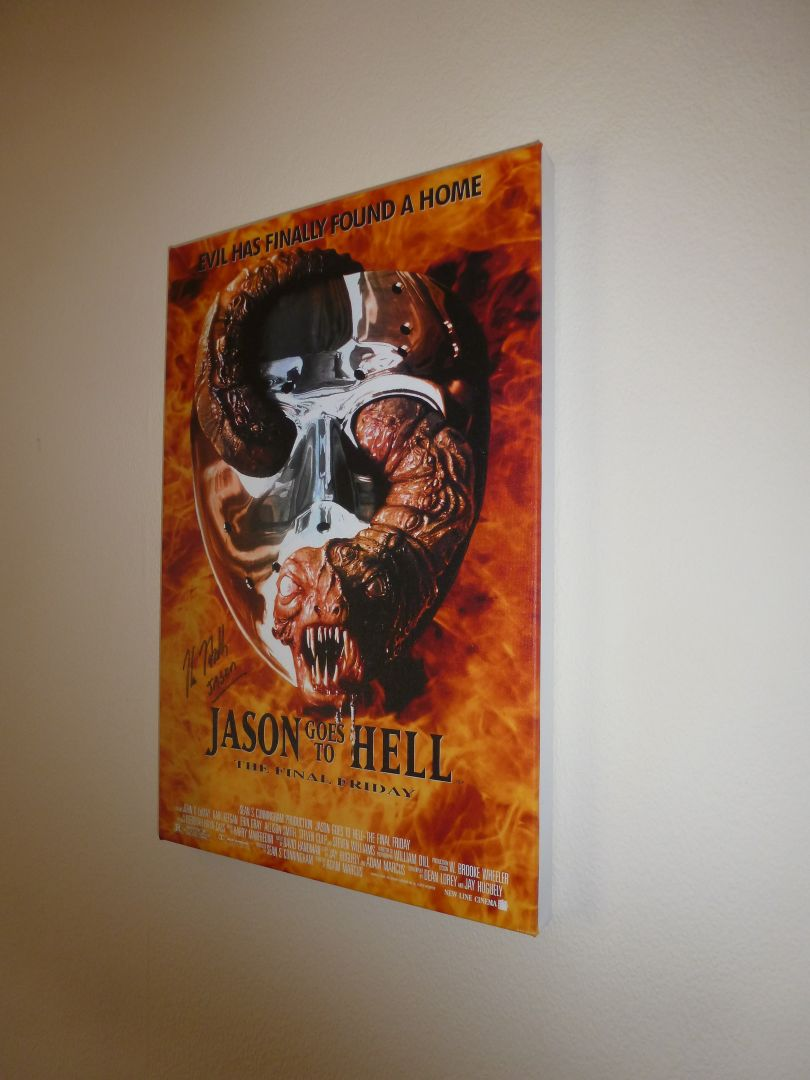 Kane Hodder Autograph Signed Canvas
