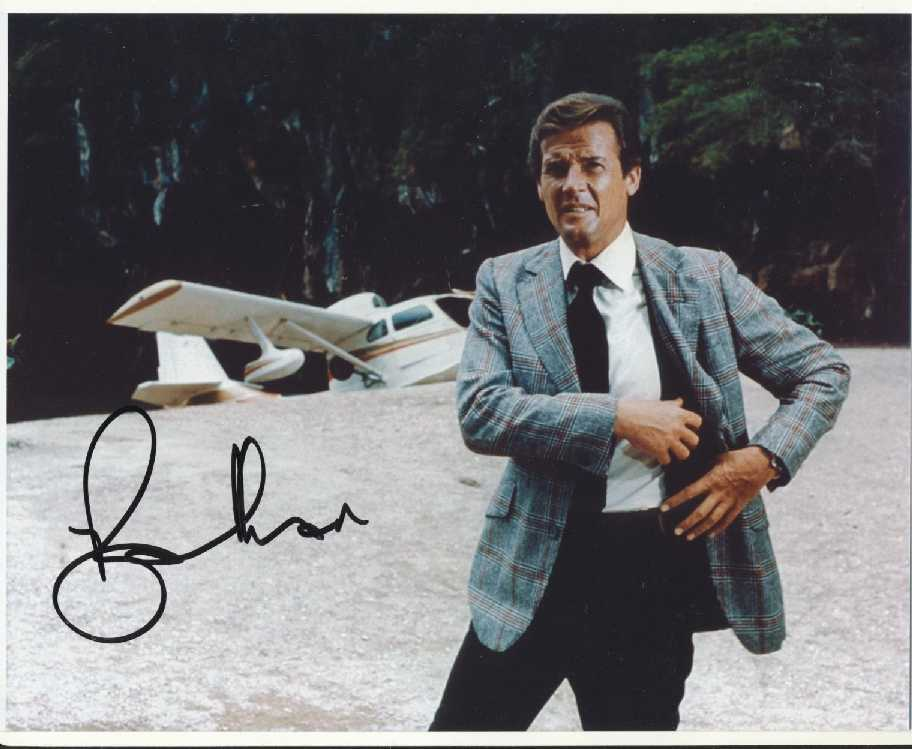 Roger Moore Autograph Signed 8x10 Photo