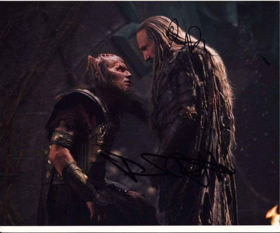 Jason Flemyng & Ralph Fiennes Signed 8x10 Photo
