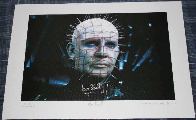 Doug Bradley Autograph Signed Limited Edition Print 46/50