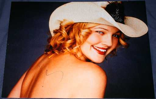 Drew Barrymore Autograph Rushed Signed 12x16 Photo