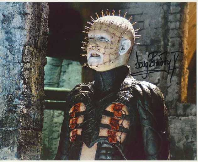 Doug Bradley Autograph Hellraiser Signed 8x10 Photo (0137)
