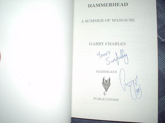 Hammerhead A Summer of Massacre by Garry Charles Signed Book