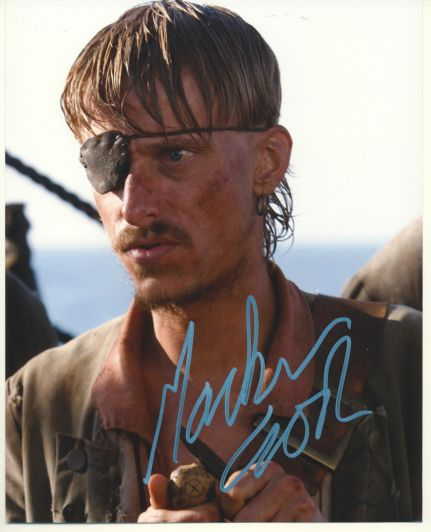 Mackenzie Crook Autograph Pirates of the Caribbean Signed 8x10 P