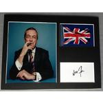 Nigel Farage Autograph Signed 12x16 Display