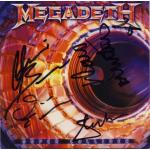 Super Collider CD Cover Signed by Megadeth