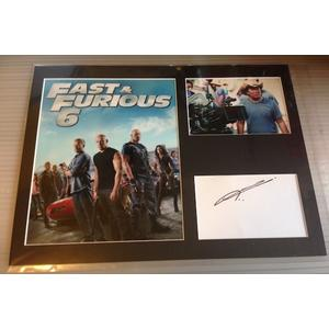 Justin Lin Autograph Signed 12x16 Display