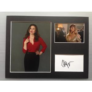 Hayley Atwell Autograph Signed 12x16 Display