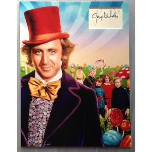 Gene Wilder Autograph Signed 16x12 Display