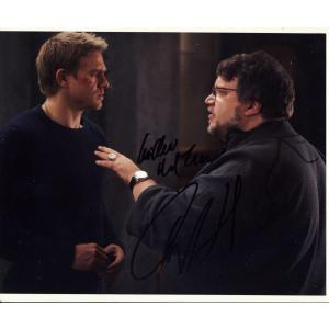 Charlie Hunnam & Guillermo Del Toro Autographs Signed 8x10 Photo