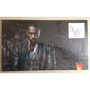 Idris Elba Autograph Signed 9.5 x 16 Inch Display